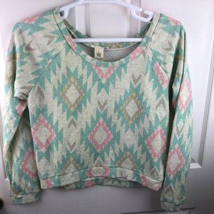 NWT Wet Seal Aztec Cropped Sweatshirt Size Medium